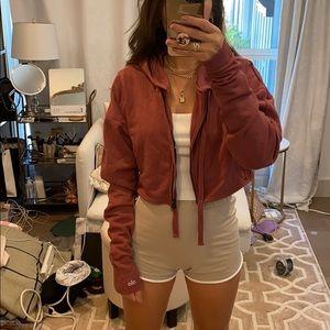 Alo yoga cropped hoodie sweatshirt